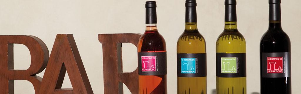 Les vins de la gamme Domaine de Herrebouc
