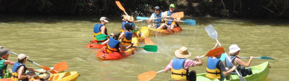 balade en canoës à Herrebouc