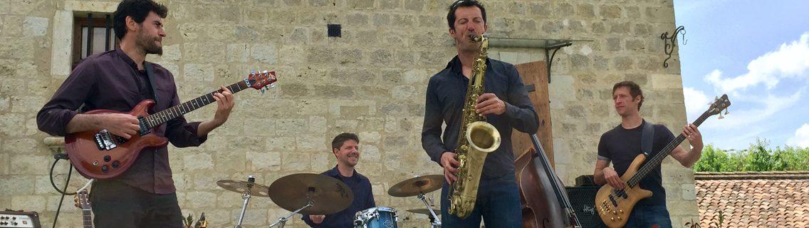 Concert au domaine de Herrebouc à l'occasion des portes ouvertes de Pentecôte avec le groupe de Jazz oriental Aléas