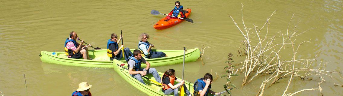 balade en canoë à herrebouc sur la baïse