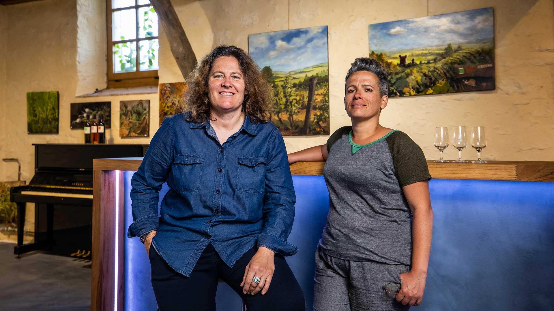 Le caveau de ventes de Herrebouc et ses vigneronnes
