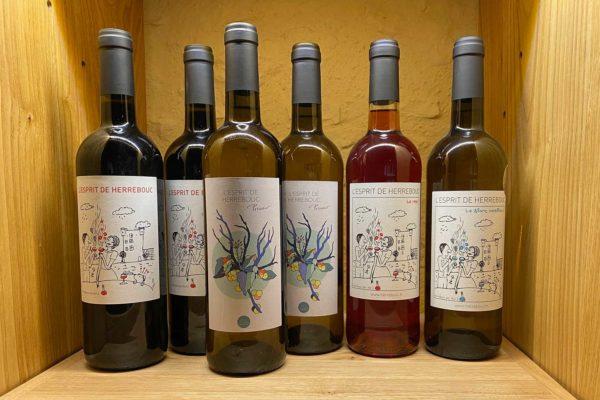 Coffret de 6 bouteilles de vin bio l'Esprit de Herrebouc