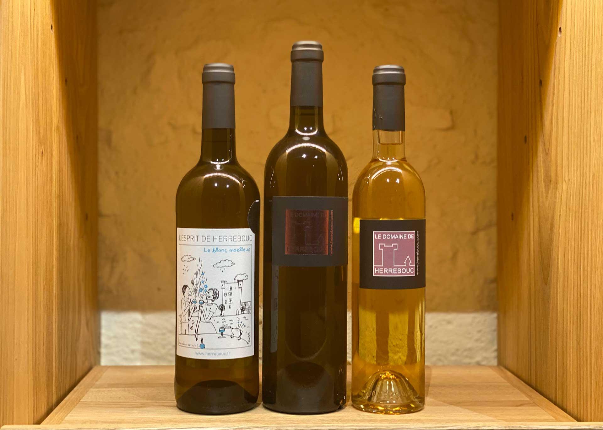 Trio de vins moelleux bio du domaine de Herrebouc