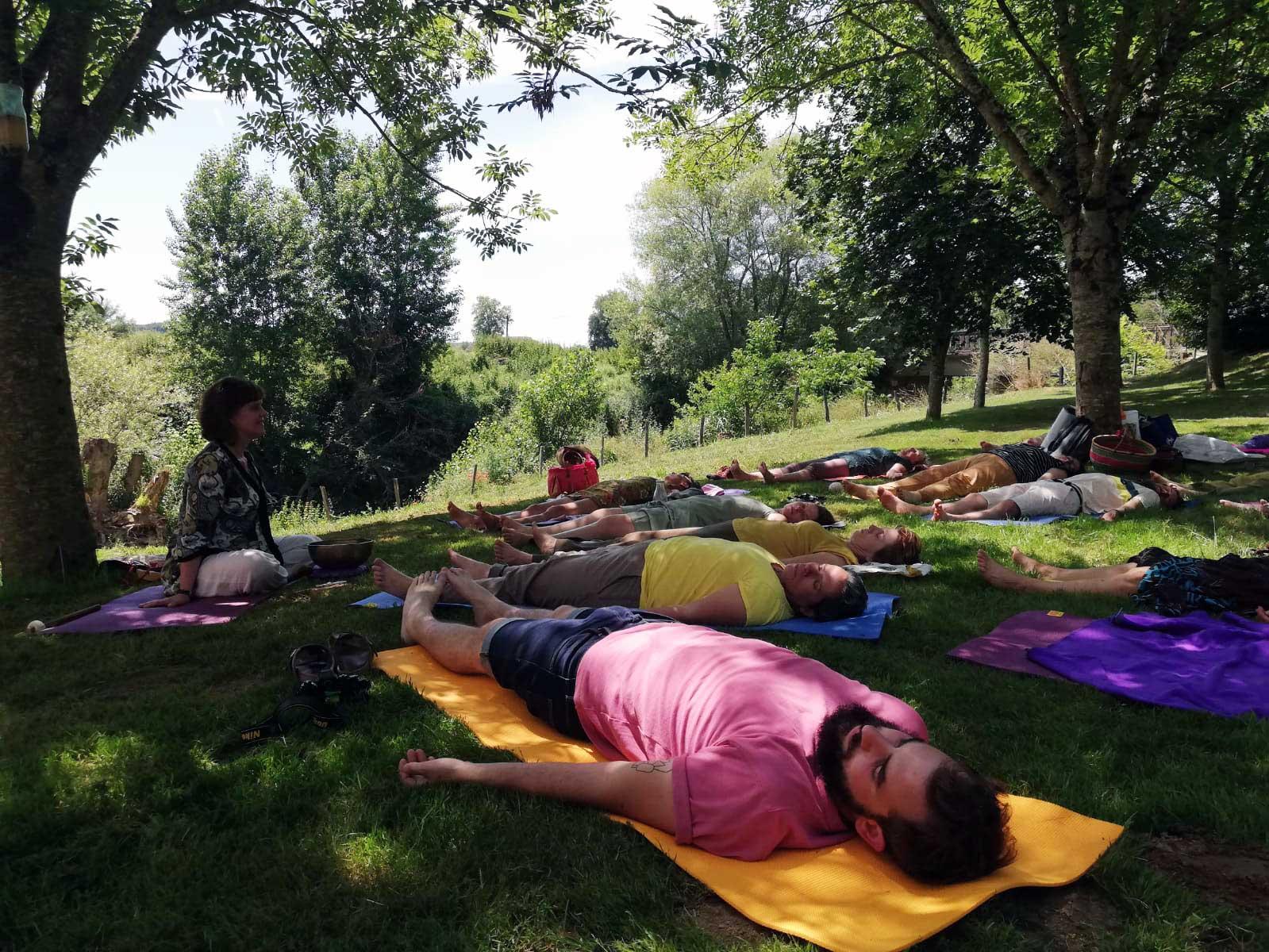 séance de yoga nidra à Herrebouc
