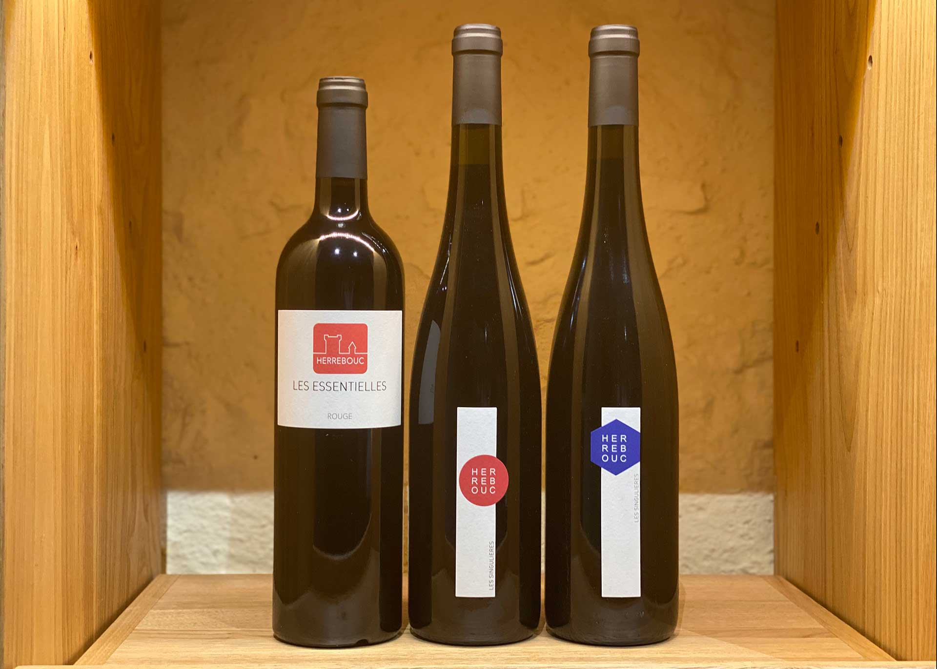 Trio de vins rouges du domaine de Herrebouc